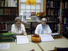 Volunteers at library