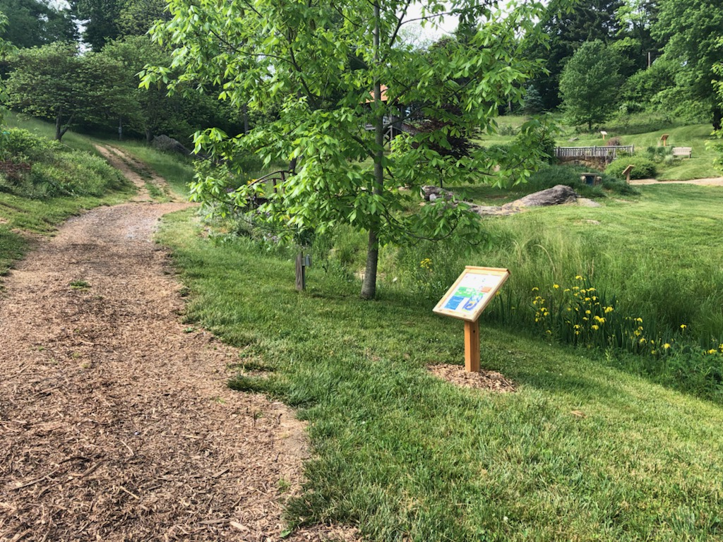 StoryWalk trail at Clary Gardens